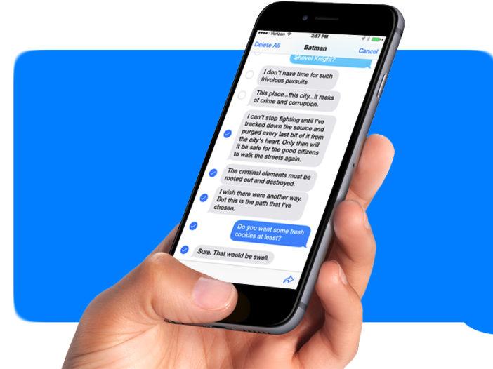 Hoe sms-berichten op de iPhone door te sturen